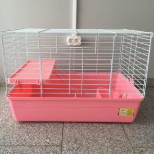 Клетка для шиншил и кроликов №R2-1 розовая