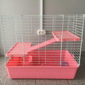 Клетка для кроликов и шиншилл №R2-2 с двумя полками