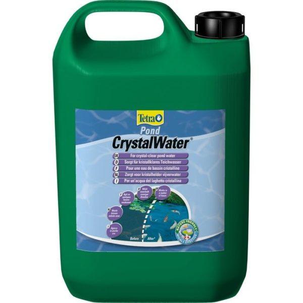 Tetra Pond Crystal Water 3 л,на 60000 л, средство для очистки прудовой воды от мути