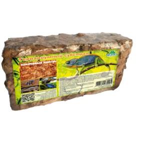 Террариумный субстрат кокосовые чипсы 550 гр - экологически чистый природный материал. Не гниет, не разлагается, прекрасно удерживает влагу. Обладает естественным антисептическим действием, предотвращает развитие плесени в террариуме.