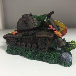 """Декорация для аквариума """"подбитый танк"""" RP-842"""