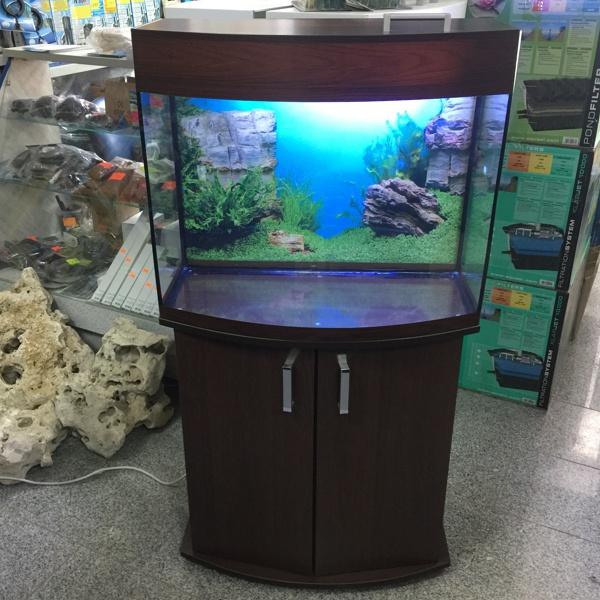 Аквариум 100 литров цвет венге