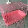 Клетка №R1F для кроликов розовая